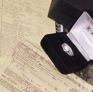 14k Diamond engagement ring & wedding band